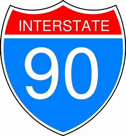 Sign Interstate Clipart 90 Road Highway Clip