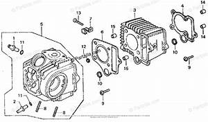 Honda Motorcycle 1976 Oem Parts Diagram For Cylinder Head