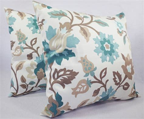 Blue Brown Throw Pillows by Blue And Brown Pillow Covers 2 16 Inch From