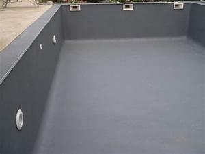 peinture piscine decoration etanche toutes couleurs With peinture etanche pour piscine beton