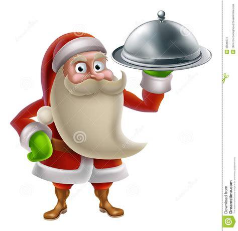 animation cuisine santa cooking dinner stock illustration