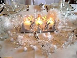 Deco Noel Blanc : deco table noel blanc ~ Teatrodelosmanantiales.com Idées de Décoration