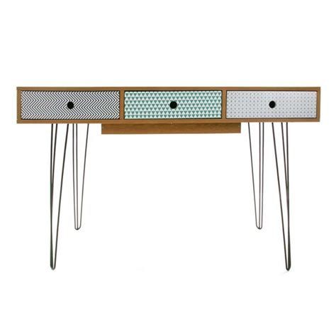 bureau longueur 90 cm bureau bois style scandinave 2 tiroirs yesdeko com