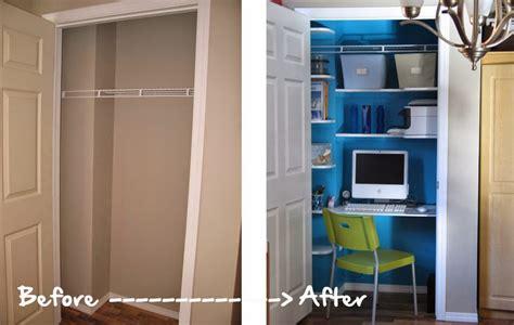 bureau dressing un bureau dans le placard déco mydecolab