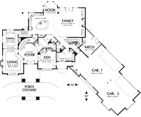 appealing courtyard entry  architectural designs house plans