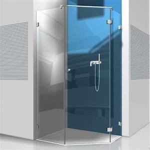 Glastür Für Dusche : 5 eck dusche mit glast r und zwei seitenteilen ~ Bigdaddyawards.com Haus und Dekorationen