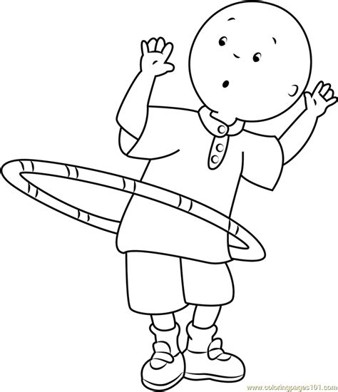 caillou playing  ring coloring page  caillou