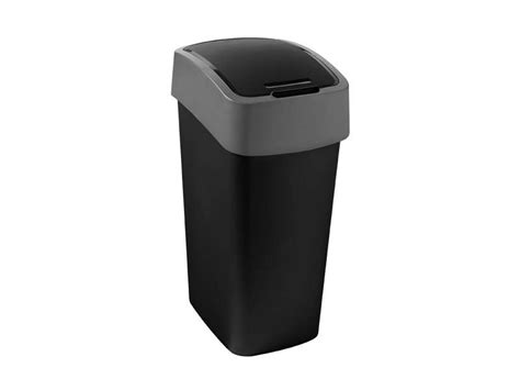 grande poubelle de cuisine poubelle cuisine 50 l flip bin coloris noir vente de