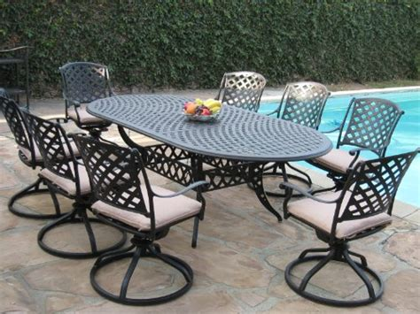 Cheap Outdoor Dining Sets by Cast Aluminum Outdoor Patio Furniture 9 Expandable