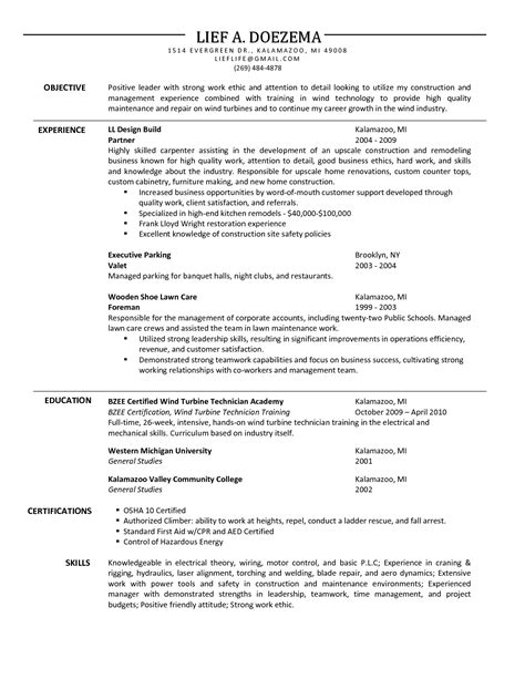 Carpenter Resume Objective Exles by Carpenter Description For Resume Writing Resume Sle Writing Resume Sle