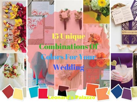 Unique Color Combinations For Your Wedding