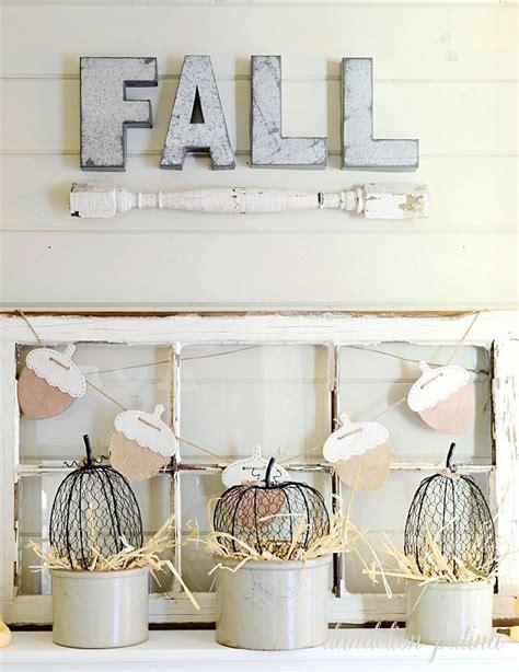 neutral fall mantel   diy projects fall mantel decorations autumn decorating fall