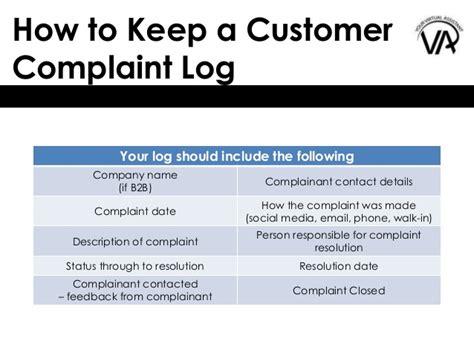 complaints register template excel complaint register