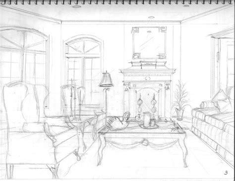 living room drawing interior design my perspective drawings s