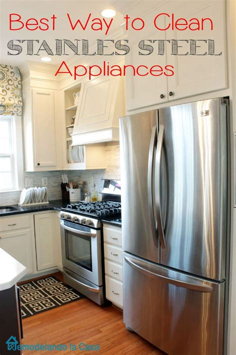what is the best way to clean kitchen cabinets best way to clean your stainless steel appliances soaps 9966