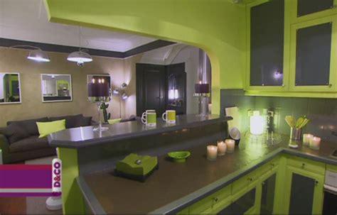 cuisine vert anis et gris