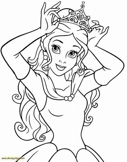 Coloring Princess Pages Belle Printable Getcolorings