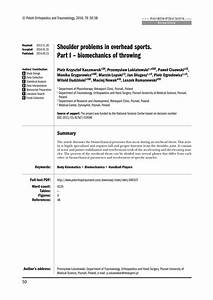 shoulder problems in overhead sports pdf download With pdf document overhead