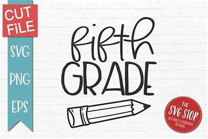 Grade Svg Fifth Pencil Eps Fbcd Svgs