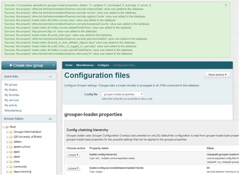 grouper configuration migrate demo database server properties internet2 those ws diagnostics migrated configs removed notice note had were
