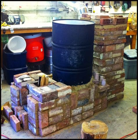 rocket mass heater stove house
