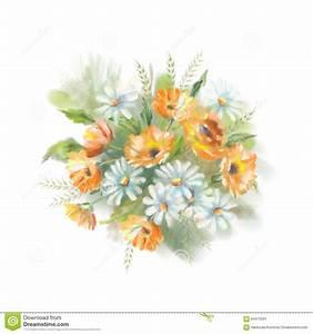 Blumen Bilder Gemalt : aquarell gemalte blumen stock abbildung illustration von elegant 64472561 ~ Orissabook.com Haus und Dekorationen