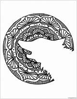 Mandala Wolf Pages Head Coloring sketch template