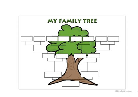 awesome family tree template english esl worksheets