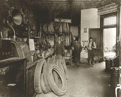 vintage ford auto repair shop auto garage interior