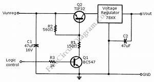 Logic Power Control For 78xx Regulator  U2013 Circuit Wiring