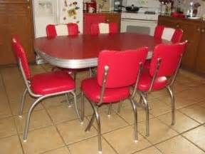 red retro kitchen table chairs home decor interior