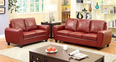 hatton red living room set  furniture  america