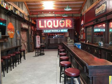 ultimate man cave bar  reclaimed barn wood siding