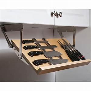 This Under Cabinet Knife Block gives you a simple way to