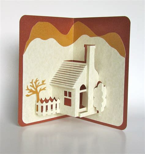 Home Popup 3d Card Home Décor Origamic Architecture Handmade