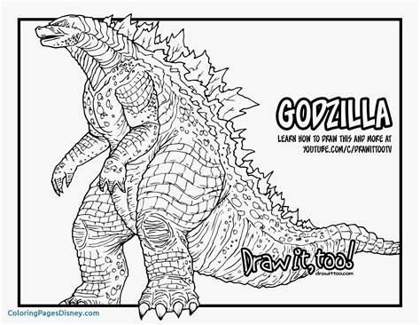 godzilla coloring pages anyingmeicom