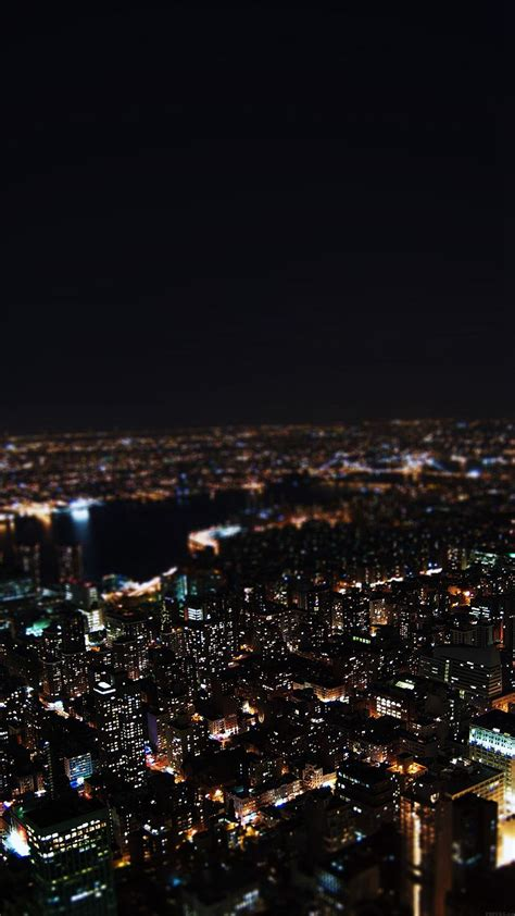 dark night city building skyview iphone  wallpaper