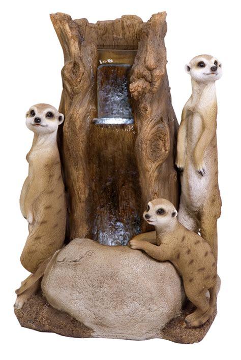 meerkat tree water feature