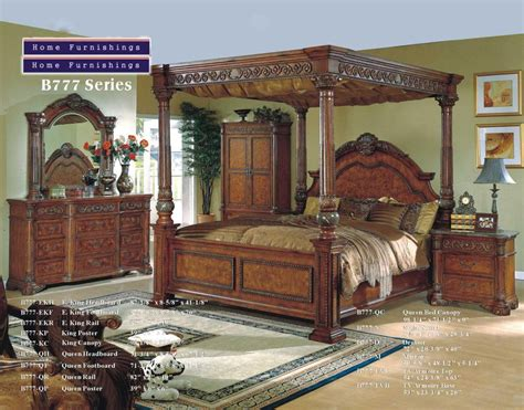 Wood Canopy Bedroom Sets by Solid Wood Italian Marble Canopy Bedroom Canopy Beds