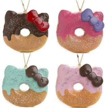 squishy medium donut hello hamee strapya world cell phone accessories cell phone