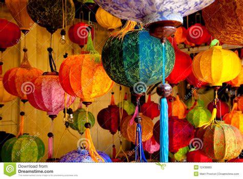 colorful chinese lanterns royalty  stock photo image