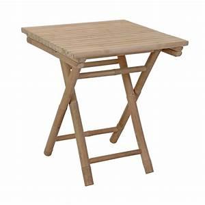 Table Pliante D Appoint : table d 39 appoint pliante bambou carr e meuble d 39 appoint ~ Melissatoandfro.com Idées de Décoration