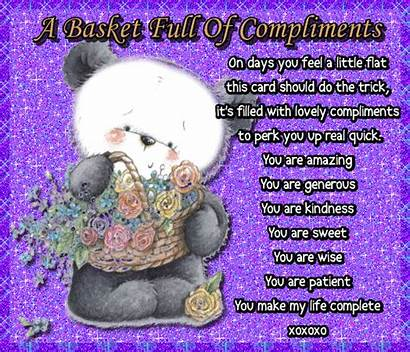 Compliments Basket Cheer Someone Special Brighten Card