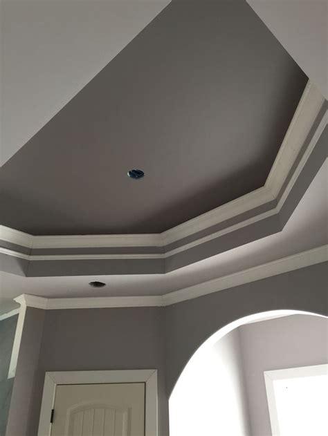 master bath tray ceiling sherwin williams mink  proper