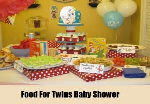 Twin Baby Shower Food Ideas