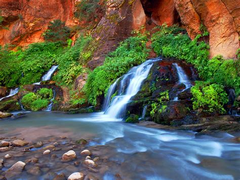 zion national park narrows arizona hd states united river downstream movement along wallpapers13