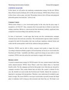 nivea marketing communication analysis With context analysis template