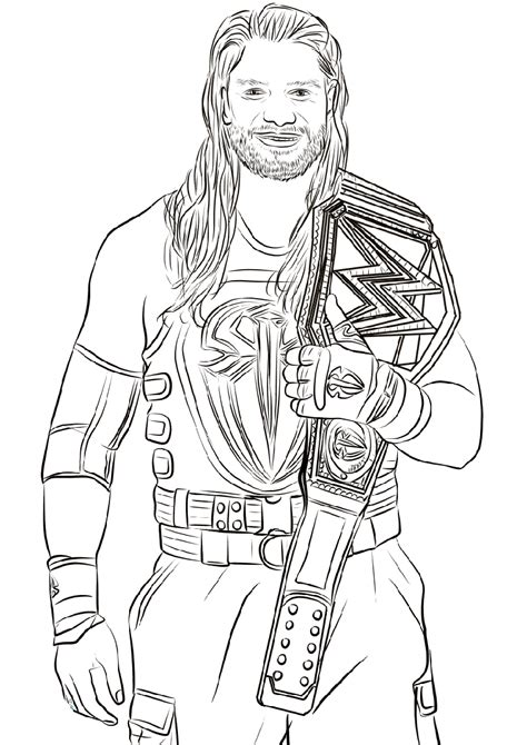 wwe coloring pages  educative printable