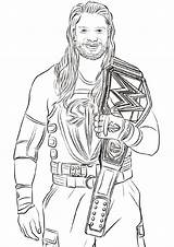 Wwe Printable Coloring Pages Educativeprintable Educative Template Credit Larger sketch template