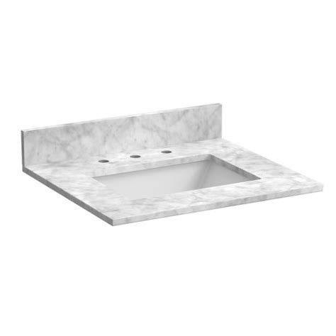 sink vanity top only foremost 31 quot x 22 quot marble single bowl vanity top only